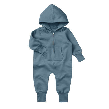 Give a professional touch to your design with this Front View Beautiful Baby Fleece Mock Up In North Atlantic Color.