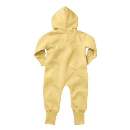 If you work on advanced, demanding designs and seek for realistic effects, this Back View Beautiful Baby Fleece Mock Up In Lemon Meringue Color will fulfill your needs.