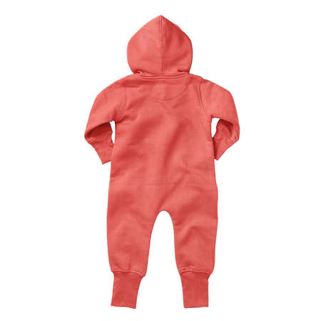 If you work on advanced, demanding designs and seek for realistic effects, this Back View Beautiful Baby Fleece Mock Up In Hot Coral Color will fulfill your needs.