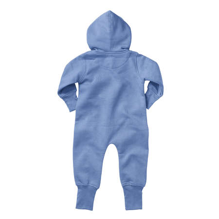 If you work on advanced, demanding designs and seek for realistic effects, this Back View Beautiful Baby Fleece Mock Up In Corn Flower Blue Color will fulfill your needs.