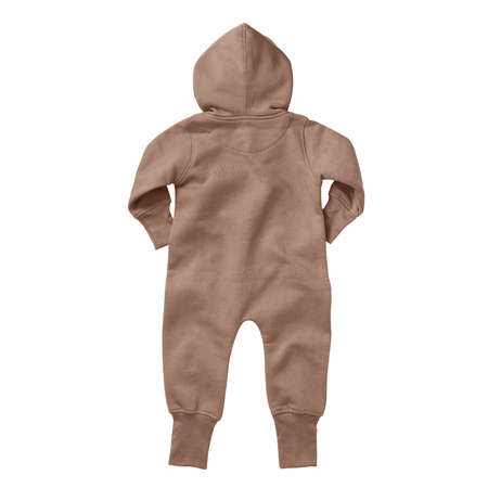 If you work on advanced, demanding designs and seek for realistic effects, this Back View Beautiful Baby Fleece Mock Up In Mocha Mousse Color will fulfill your needs. Foto de archivo