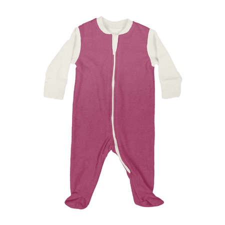 This Front View Sweet Baby Jumpsuit Mock Up In Dark Sangria Color, is a perfect way to showcase your creations without having to spend a ton of money on individual products
