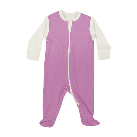 This Front View Sweet Baby Jumpsuit Mock Up In Royal Lilac Color, is a perfect way to showcase your creations without having to spend a ton of money on individual products Stok Fotoğraf