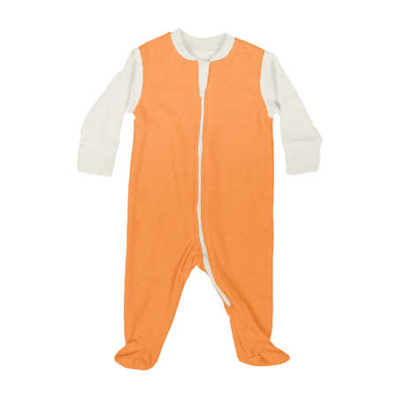 This Front View Sweet Baby Jumpsuit Mock Up In Turmeric Powder Color, is a perfect way to showcase your creations without having to spend a ton of money on individual products