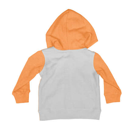 You always wanted to make your designs as realistic as possible, so use this Back View Baby Zip Up Hoodie Mock Up In Turmeric Powder Colo.
