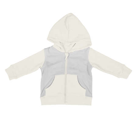 Get stylish photos and never lost your customers with this Premium Baby Zip Up Hoodie Mock Up In White Tofu Color.