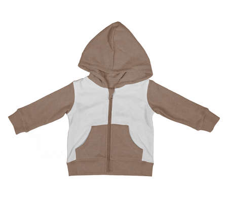 Get stylish photos and never lost your customers with this Premium Baby Zip Up Hoodie Mock Up In Royal Brown Color.