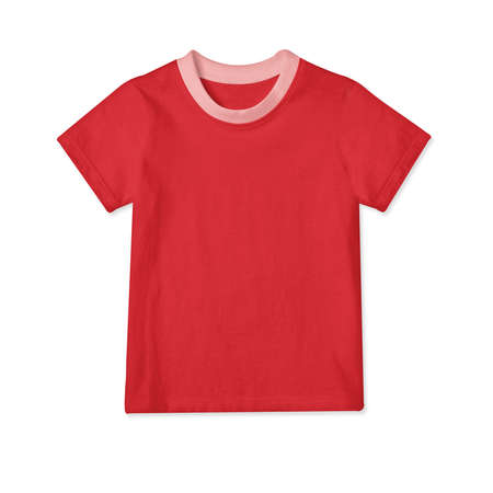 Showcase your designs in a professional way with these Classic Baby T Shirt Mockup In Flame Scarlet Color. Stock fotó