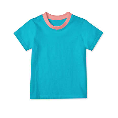 Showcase your designs in a professional way with these Classic Baby T Shirt Mockup In Scuba Blue Color.