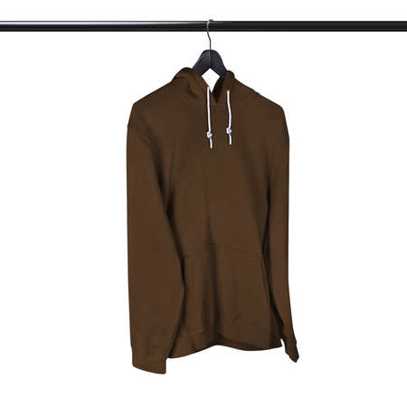 Prepare your pictures, then add into this Side View Professional Hoodie Mockup In Sepia Brown Color With Hanger, and get ready to start selling more.