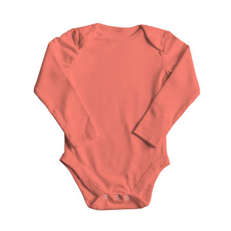 Use this Front View Sweet Baby Bodysuit Mockup In Fusion Coral Color, and your design becomes more realistic.