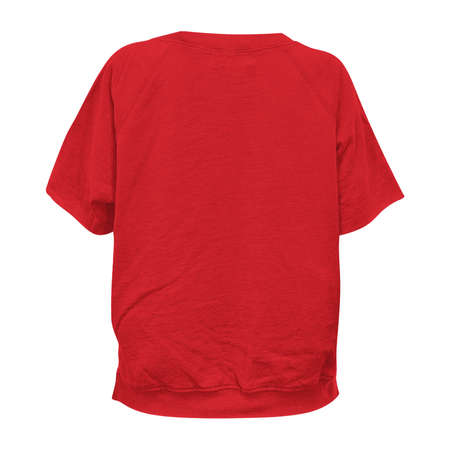 Paste your brand logo into this Back View Professional Short Sleeve T Shirt Mockup In Flame Scarlet Color, and everything will seem more real.