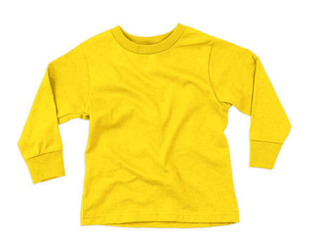 This Front View Amazing Toddler Longsleeve T Shirt Mokup In Cyber Yellow Color, can help you to implement your extraordinary designs.