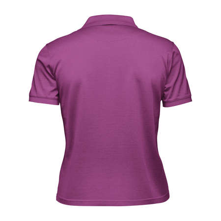 This Back View Fabulous Women's Collar T Shirt Mockup In Radiant Orchid Color, will help you to apply your logo or brand design more quickly.