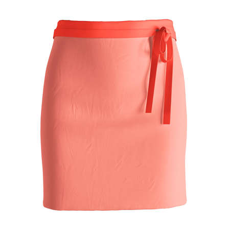 Add your amazing designs or logo to this Front View Stylish Half Waist Apron Mockup In Fusion Coral Color, and everything will be done.