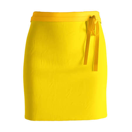 Add your amazing designs or logo to this Front View Stylish Half Waist Apron Mockup In Cyber Yellow Color, and everything will be done.