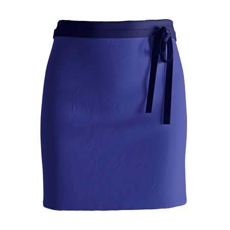 Add your amazing designs or logo to this Front View Stylish Half Waist Apron Mockup In Clematis Blue Color, and everything will be done.