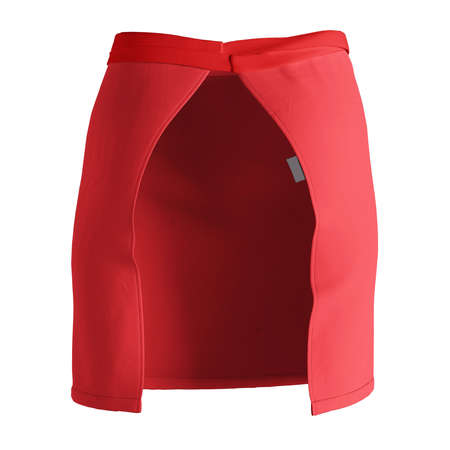 A modern Back View Stylish Half Waist Apron Mockup In Poppy Red Color template, to help you form your work more quickly.