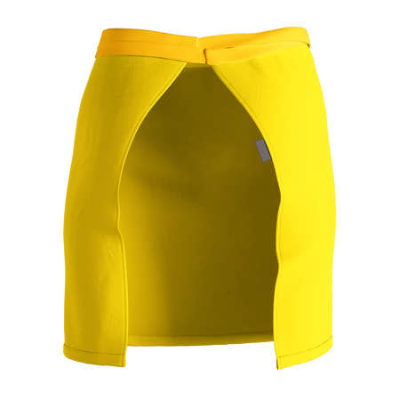 A modern Back View Stylish Half Waist Apron Mockup In Cyber Yellow Color template, to help you form your work more quickly.