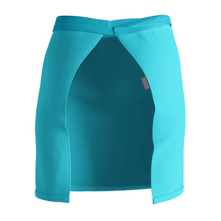 A modern Back View Stylish Half Waist Apron Mockup In Blue Curacao Color template, to help you form your work more quickly.