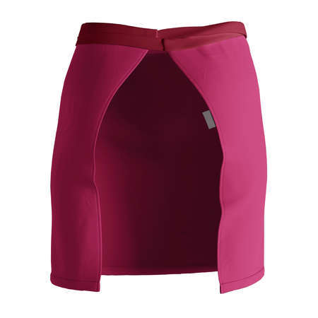 A modern Back View Stylish Half Waist Apron Mockup In Cherries Jubilee Color template, to help you form your work more quickly.