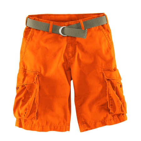 Add your logo design into this Front View Fantastic Men's Shorts Mockup In Carrot Curl Color as much as you like, you can customize everything you like. Stockfoto
