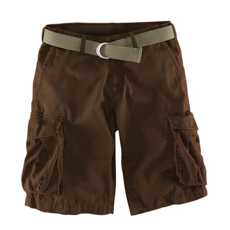 Add your logo design into this Front View Fantastic Men's Shorts Mockup In Sepia Brown Color as much as you like, you can customize everything you like.