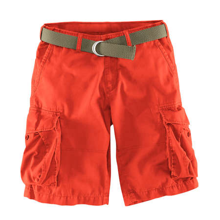 Add your logo design into this Front View Fantastic Men's Shorts Mockup In Camellia Orange Color as much as you like, you can customize everything you like.