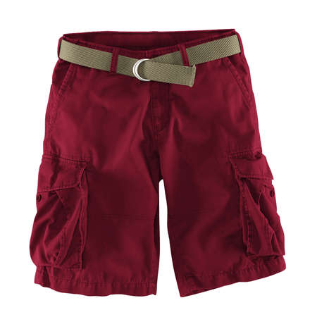 Add your logo design into this Front View Fantastic Men's Shorts Mockup In Red Bud Color as much as you like, you can customize everything you like. Stockfoto