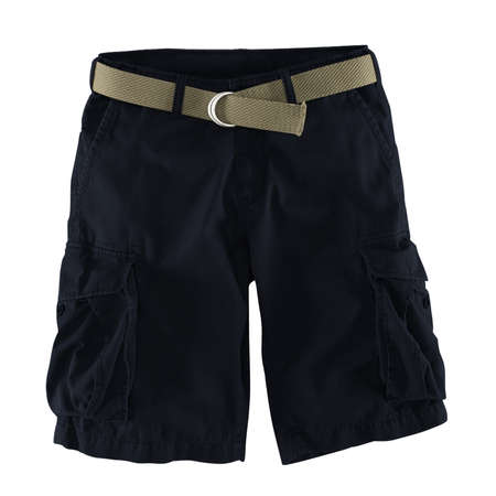 Add your logo design into this Front View Fantastic Men's Shorts Mockup In Dark Sapphire Color as much as you like, you can customize everything you like.