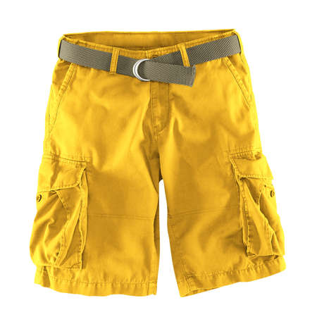 Add your logo design into this Front View Fantastic Men's Shorts Mockup In Lemon Zest Color as much as you like, you can customize everything you like.