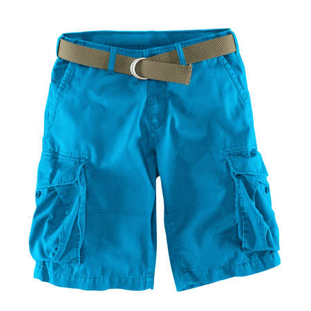 Add your logo design into this Front View Fantastic Men's Shorts Mockup In Blue Atoll Color as much as you like, you can customize everything you like.