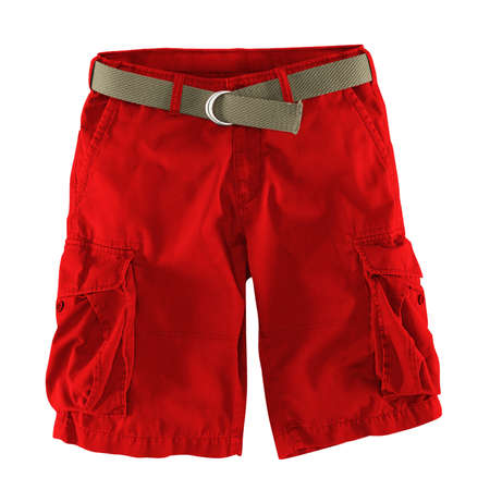 Add your logo design into this Front View Fantastic Men's Shorts Mockup In Fiery Red Color as much as you like, you can customize everything you like. Stockfoto