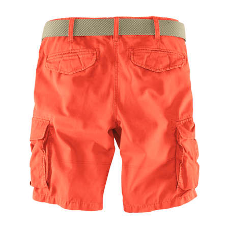Showcase your designs like an expert with this Back View Fantastic Men's Shorts Mockup In Camellia Orange Color. Customize everything you need.