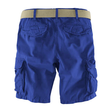 Showcase your designs like an expert with this Back View Fantastic Men's Shorts Mockup In Deep Ultramarine Color. Customize everything you need.