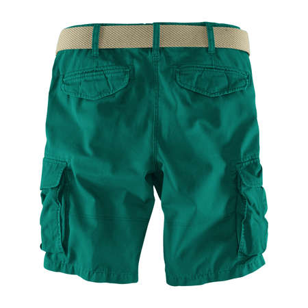 Showcase your designs like an expert with this Back View Fantastic Men's Shorts Mockup In Alpine Green Color. Customize everything you need. Stockfoto