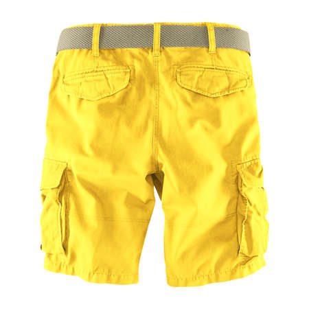 Showcase your designs like an expert with this Back View Fantastic Men's Shorts Mockup In Lemon Zest Color. Customize everything you need.