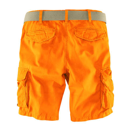 Showcase your designs like an expert with this Back View Fantastic Men's Shorts Mockup In Carrot Curl Color. Customize everything you need.