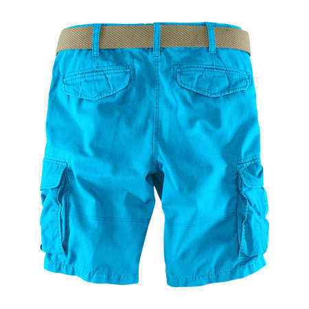 Showcase your designs like an expert with this Back View Fantastic Men's Shorts Mockup In Blue Atoll Color. Customize everything you need. Stockfoto