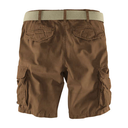 Showcase your designs like an expert with this Back View Fantastic Men's Shorts Mockup In Sepia Brown Color. Customize everything you need.