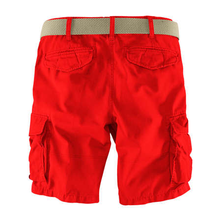 Showcase your designs like an expert with this Back View Fantastic Men's Shorts Mockup In Fiery Red Color. Customize everything you need.