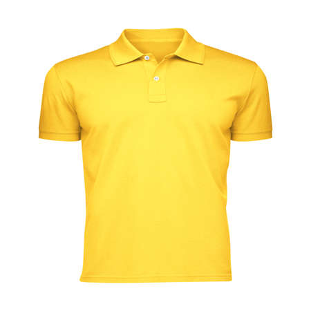 Paste the beauty of your design into this Front View Fancy Men's Collar T Shirt Mockup In Lemon Zest Color, and everything will appear to be real.