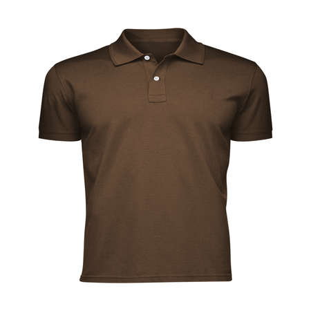 Paste the beauty of your design into this Front View Fancy Men's Collar T Shirt Mockup In Sepia Brown Color, and everything will appear to be real.