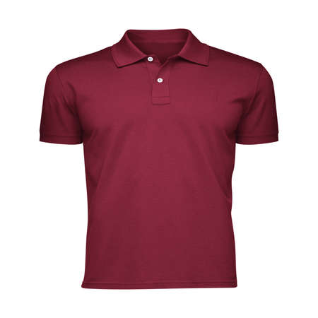 Paste the beauty of your design into this Front View Fancy Men's Collar T Shirt Mockup In Red Bud Color, and everything will appear to be real. Stockfoto