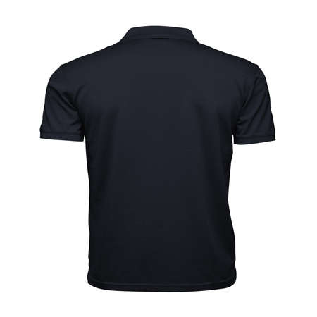 Just place your picture on this Back View Fancy Men's Collar T Shirt Mockup In Dark Sapphire Color, and your products will be ready to be advertised. Stockfoto