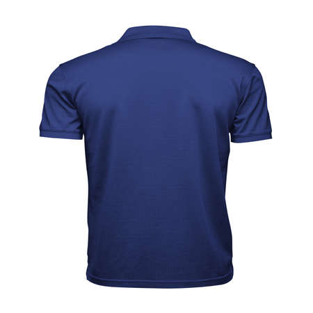 Just place your picture on this Back View Fancy Men's Collar T Shirt Mockup In Deep Ultramarine Color, and your products will be ready to be advertised. Stockfoto