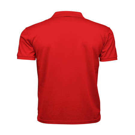 Just place your picture on this Back View Fancy Men's Collar T Shirt Mockup In Fiery Red Color, and your products will be ready to be advertised. Stockfoto