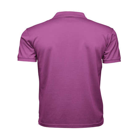 Just place your picture on this Back View Fancy Men's Collar T Shirt Mockup In Radiant Orchid Color, and your products will be ready to be advertised. Stockfoto