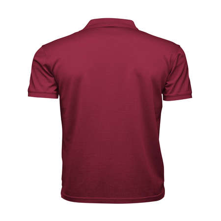 Just place your picture on this Back View Fancy Men's Collar T Shirt Mockup In Red Bud Color, and your products will be ready to be advertised.
