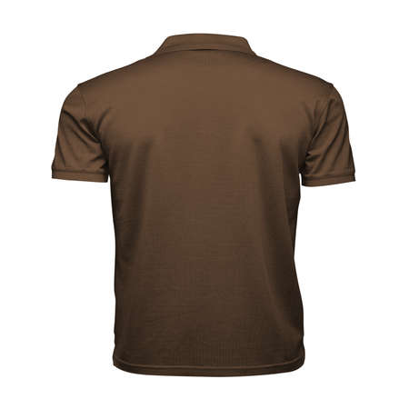 Just place your picture on this Back View Fancy Men's Collar T Shirt Mockup In Sepia Brown Color, and your products will be ready to be advertised.